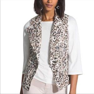 Chico's Leopard Print Linen Vest